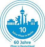 Logo 10 Jahre Pfizer in Berlin 0