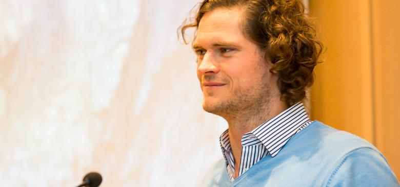 Lieferando-Chef Jörg Gerbig beim Unternehmertreffen des VBKI