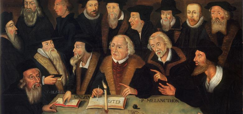 01 Martin Luther im Kreise von Reformatoren 780x366?itok=wSBCETo7